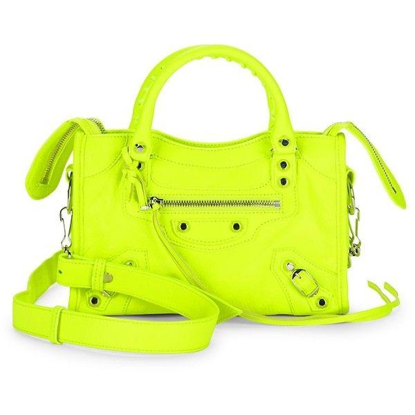 Balenciaga Women's Neon Leather Bag ($1