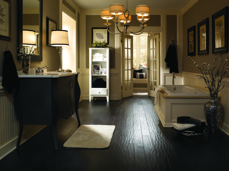 drench your home in decadence with the stylish memorable look of dark flooring