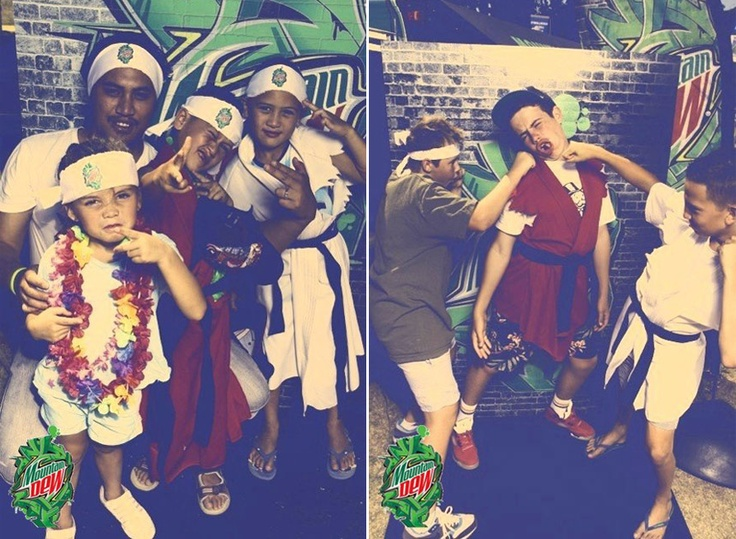 Mountain Dew New Zealand at Pasifika 2013. These kids posing as Street Fighters are hilarious!