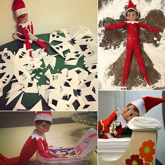 This elf likes his marshmallow firm. Find more Elf on the Shelf ideas using marshmallows at Bombshell Bling.