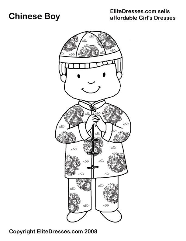 coloring pages traditional chinese clothing - Google Search