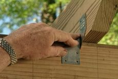 Pergola How To Attach Cross Beams With Hurricane Clips In