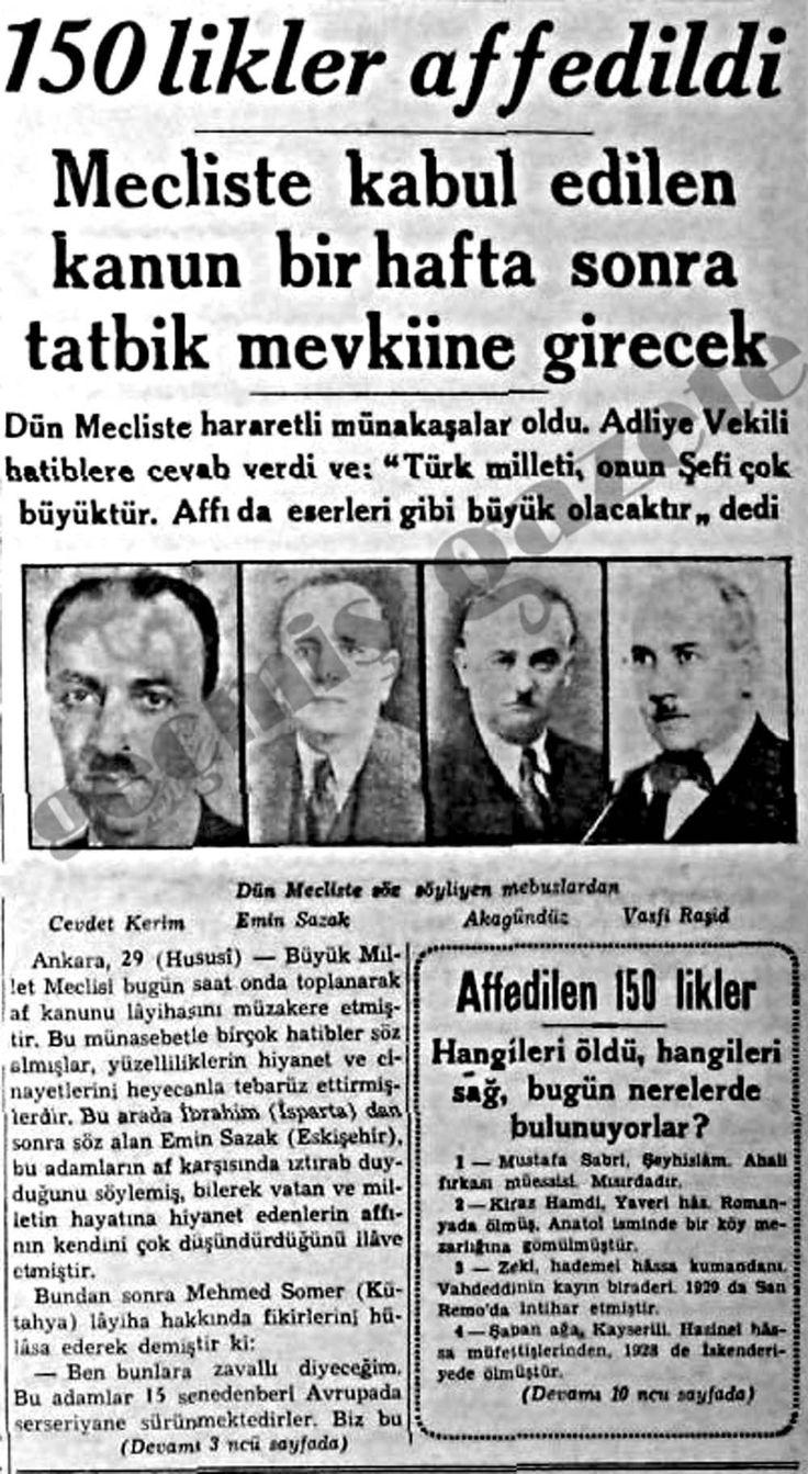 150'likler Affedildi  http://dirilisgazetesi.com