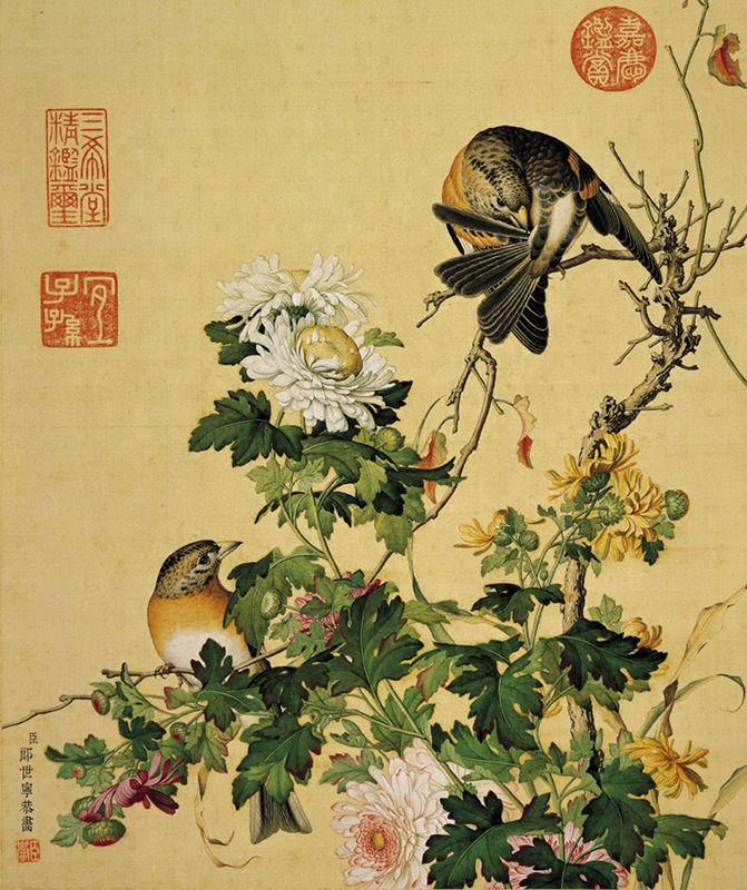 Открытка, набор открыток цветы и птицы
