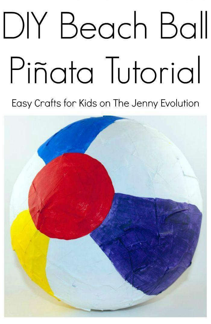 DIY Beach Ball Pinata Tutorial - Perfect crafts idea for a summer party!