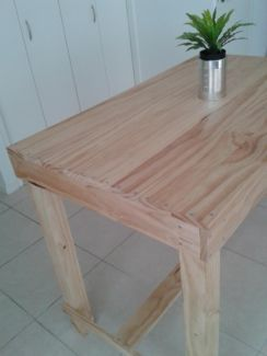 Handmade wood kitchen island table industrial decor by verywoodthings.com