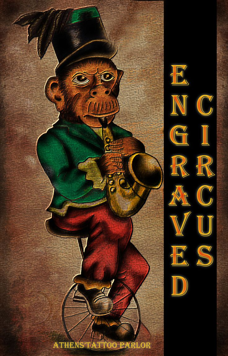 the engraved circus monkey .. by loop1974.deviantart.com on @deviantART  #tattoo #Zografou #Ζωγράφου # Τατουάζ #shaman #shamantattoo #engraved #engravedcircus #circus #circustattoo #monkey