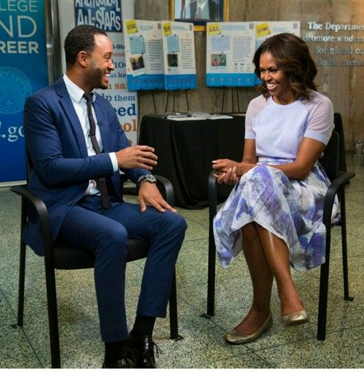 First Lady Michelle Obama sits down with Terrence J for an interview with Enews!