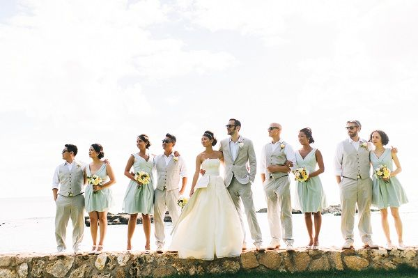 Kari and Derek { Real Oahu Wedding } #dresses - WOW!