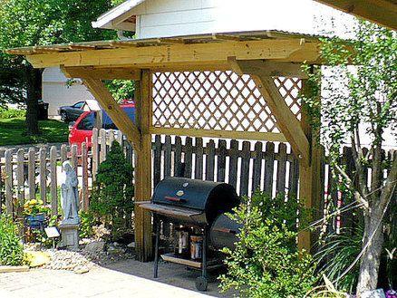 basic design   bbq shelter  lattice  bamboo bbq ideas grill gazebo outdoor