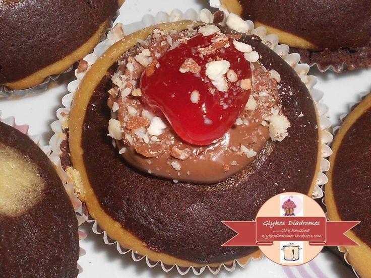 Capcakes marbré, cocoa - orange flavor / glykesdiadromes.wordpress.com
