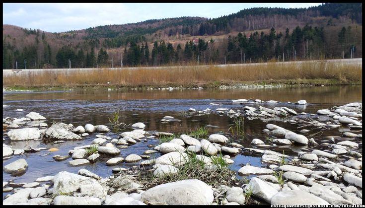 rzeka Skawa / budowa zapory  #Skawa #Polska #Poland #małopolskie #powiat suski #Beskidy #Tarnawa Dolna #Skawce #Zembrzyce #Zarębki #zalew #zapora #Jezioro Mucharskie #Mucharz #zapora w Świnnej Porębie #rzeka Skawa