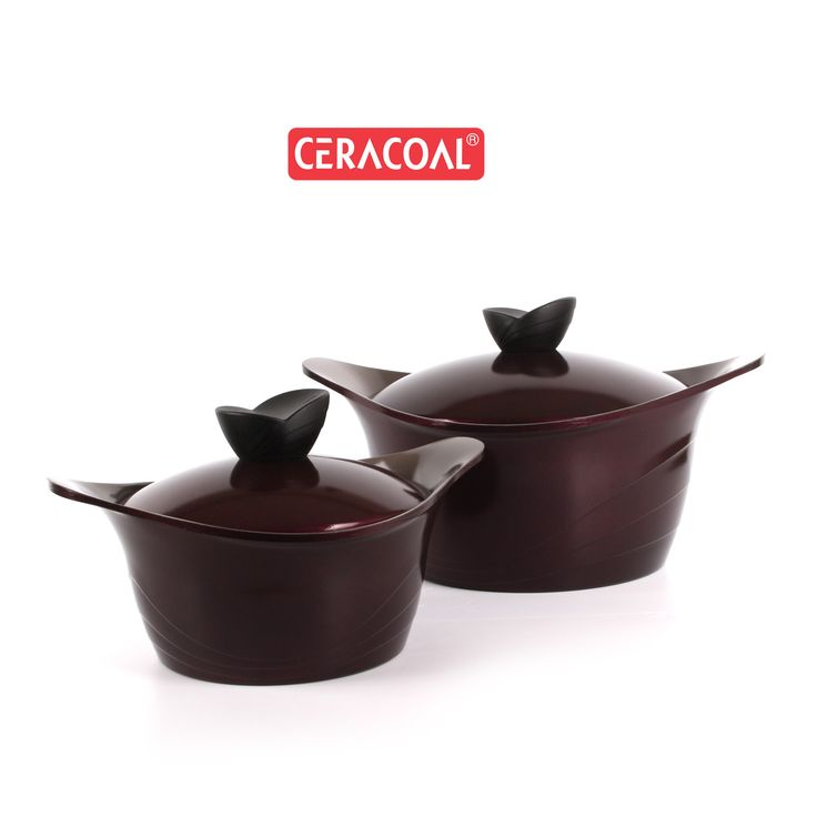 CERACOAL - Lia Stockpot | Trendy Wine | Superior nonstick feature | durability | eco-friendly coating | 100% PFOA & PTFE free