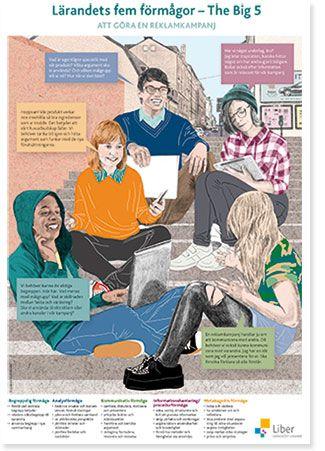 Lärandets fem förmågor - The Big 5 - poster Liber 2016