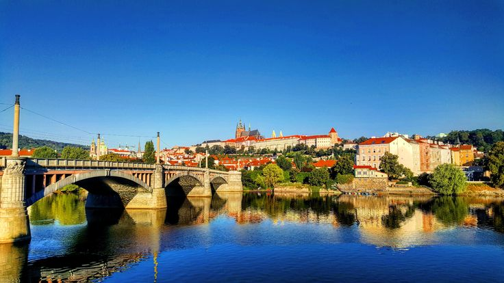 #prague #bridge #river #castle