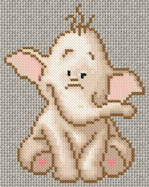 Baby elephant cross-stitch