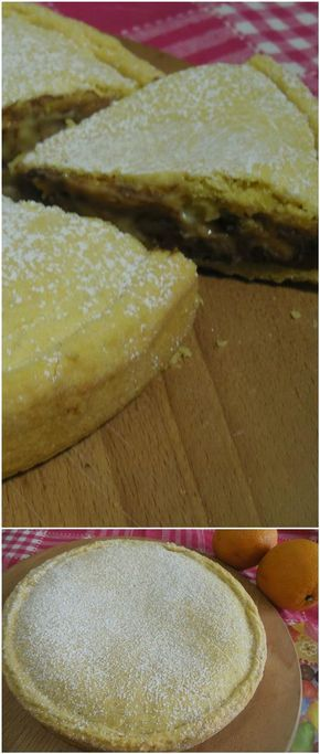 Torta di pasta frolla all'arancia e crema ! #torta #pastafrolla #pastafrollaarancia #crema #cioccolato #ricettegustose
