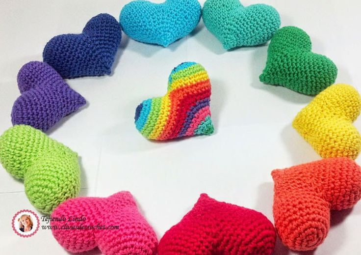 Tejiendo lindo - Graciela Gaudi: Paso a paso: Corazones crochet para celebrar el am...