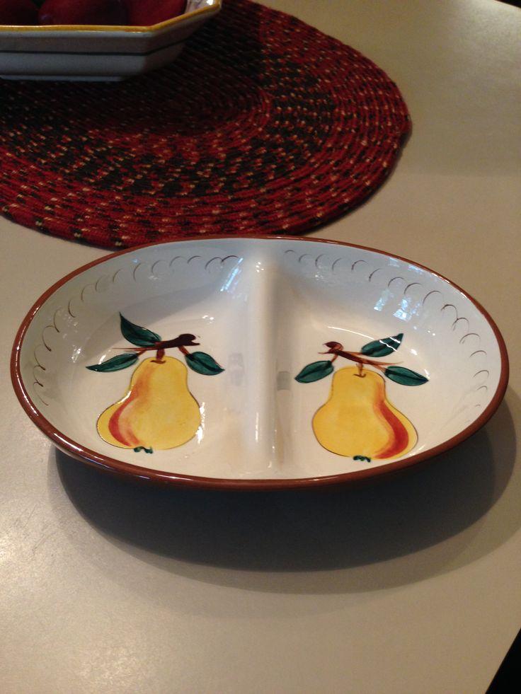 Stangl Fruit - Divided vegetable dish & 672 best Stangl Pottery - Trenton New Jersey images on Pinterest ...