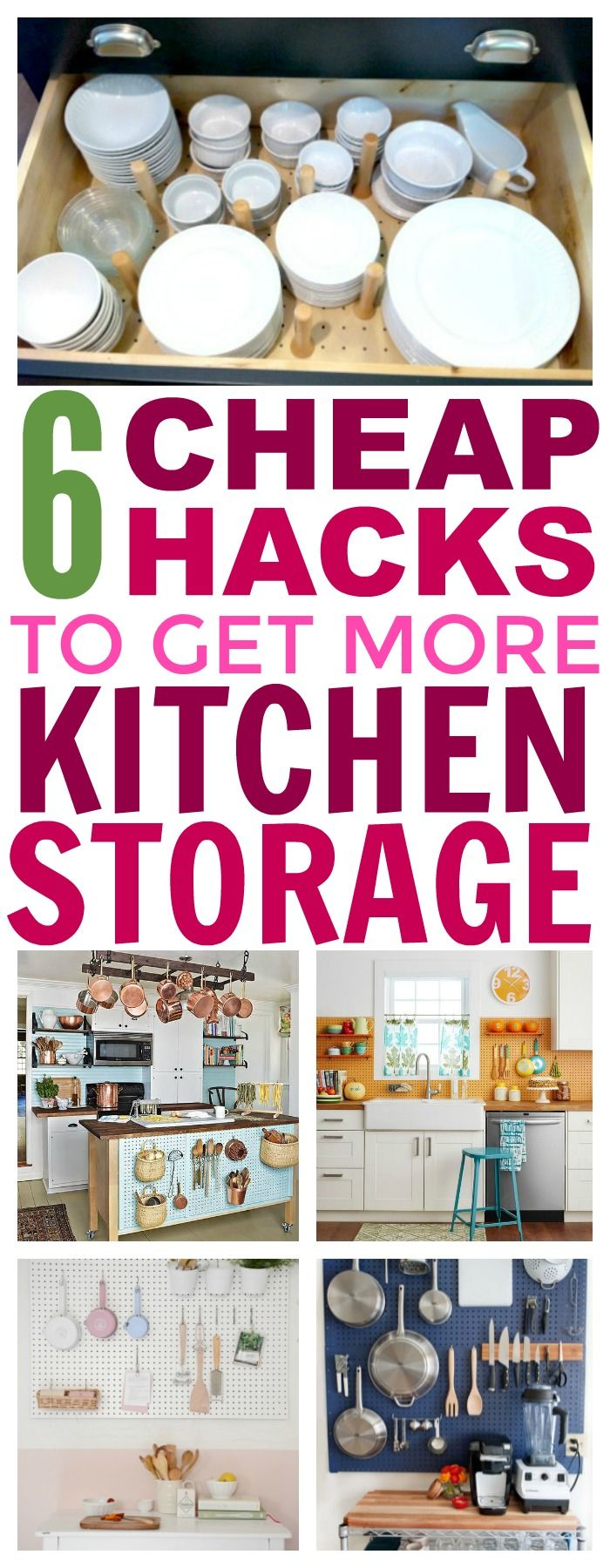 6 Cheap Ways To Create More Storage In Your Kitchen - That Vintage Life