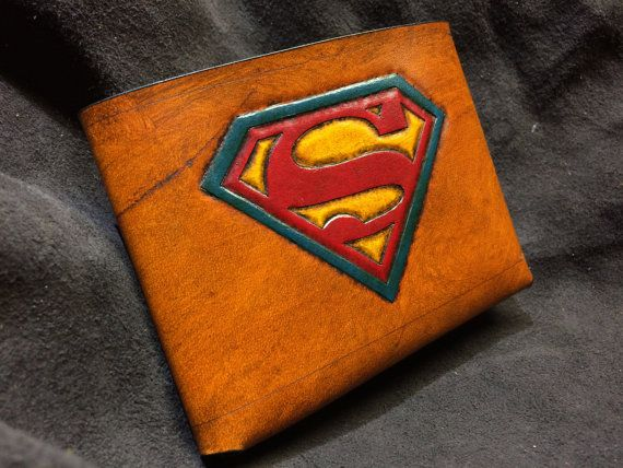 Leather Superman Wallet by SkinzNhydez on Etsy