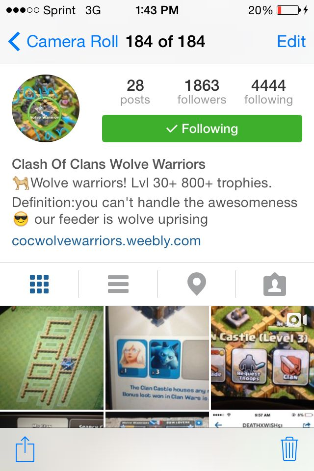 Come on and join our Instagram page even more cool stuff