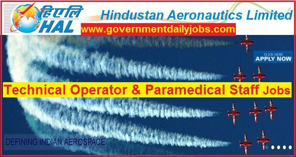HAL Recruitment 2018 | 70 Technical Operator & Paramedical Staff Jobs
