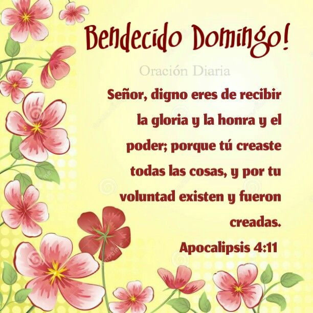Bendecido Domingo!