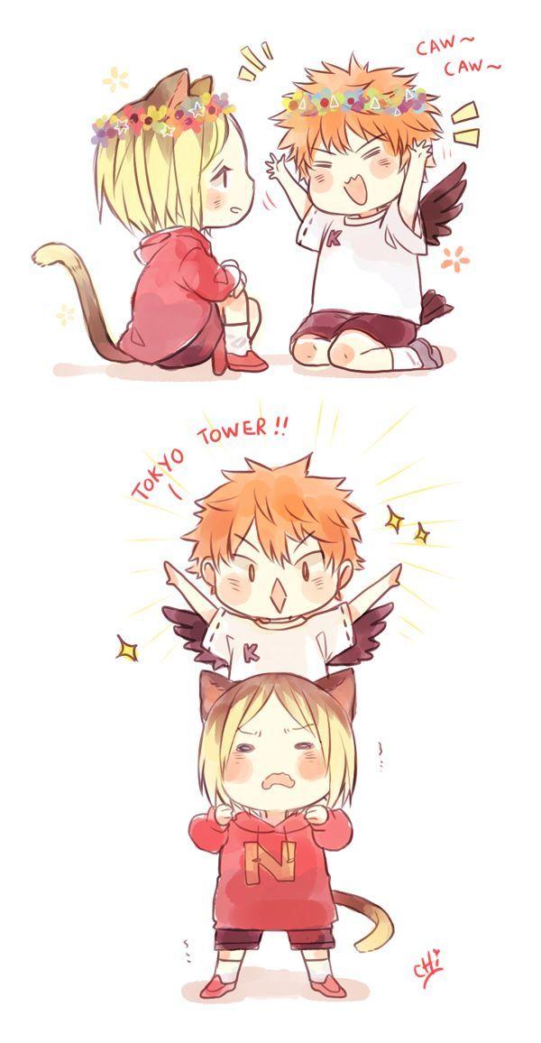 "This is adorable. I love how Kenma is like, ""Bro, whaddareyoudoing?!?!?!:"