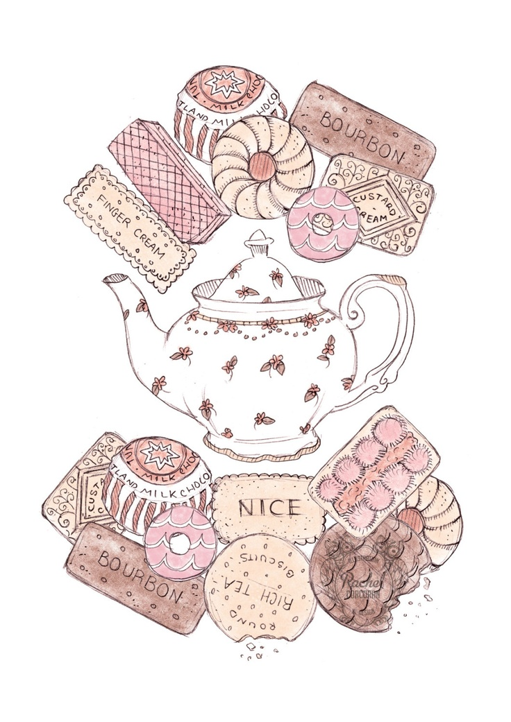 *Biscuit and Teapot Illustration*