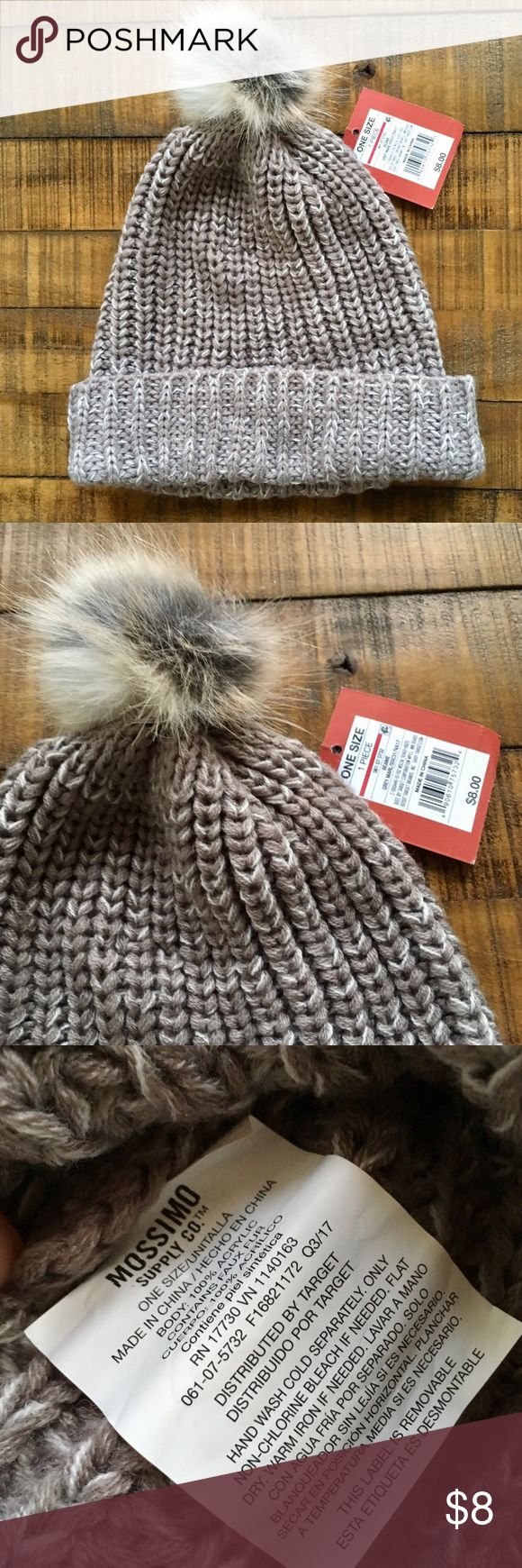 Cream beanie Cute pom pom beanie from Mossimo. Never used and with tag. No flaws. Mossimo Supply Co Other