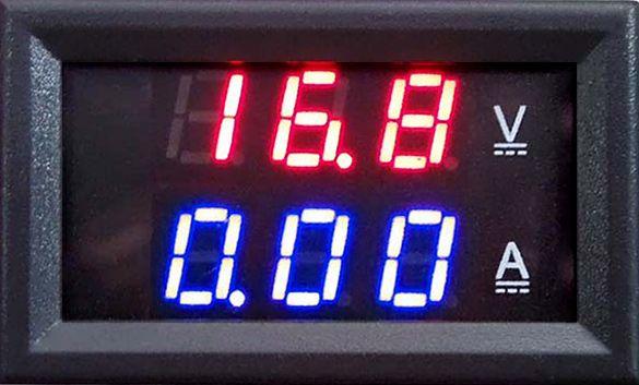 DC 100 V 10A Woltomierz Amperomierz Niebieski + Czerwona ...