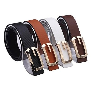 Unisex G Smooth Design Faux Leather Belt (4 Colours)