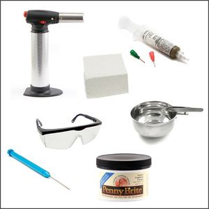 Beaducation's Soldering Starter Kit! We have packaged all the tools you need to begin soldering. This kit can be used for soldering Brass, Copper, Sterling Silver, Nickel Silver and Gold Filled metals. www.beaducation.com