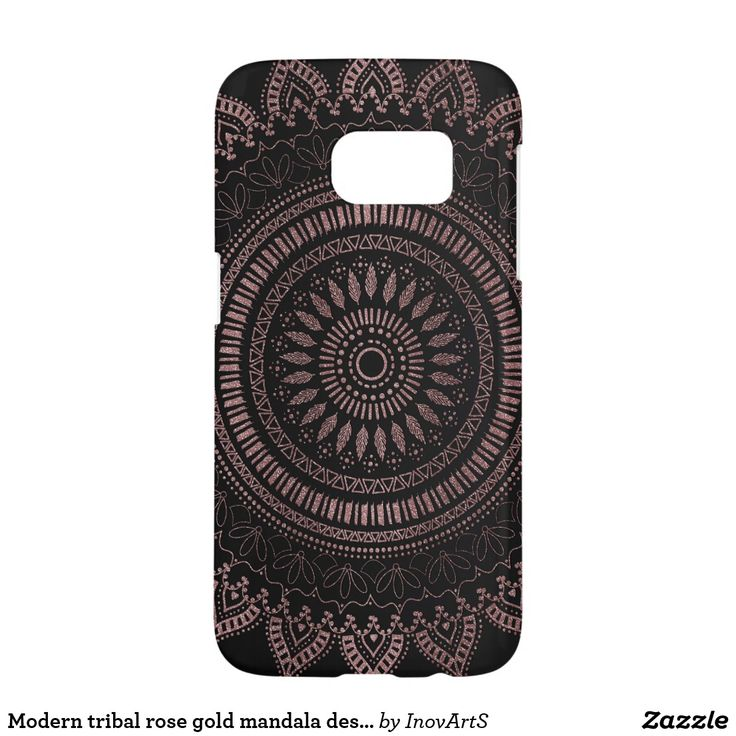 Modern tribal rose gold mandala design samsung galaxy s7 case
