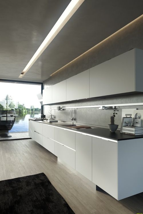 White design Kitchen - Room Lighting