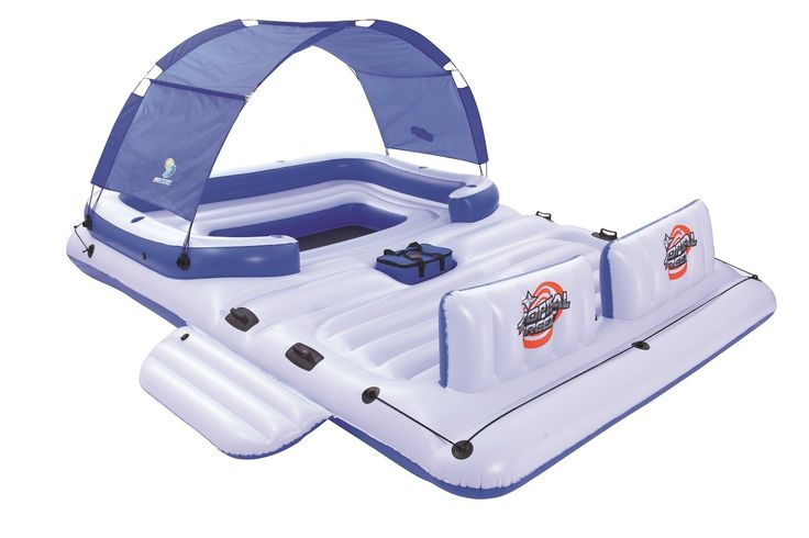 Amazon.com: Bestway CoolerZ Tropical Breeze 6-Person Floating Island: Toys & Games