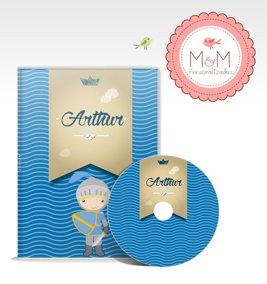 DVD + Capa Personalizados - Rei Arthur