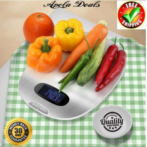 Electronic Scale For Kitchen LCD Display Perfect Design  This Electronic Scale For Kitchen is your best friend in the kitcen. A new breakthrough of metal material, mirror polishing stainless steel surface with wire drawing technology,to make th...