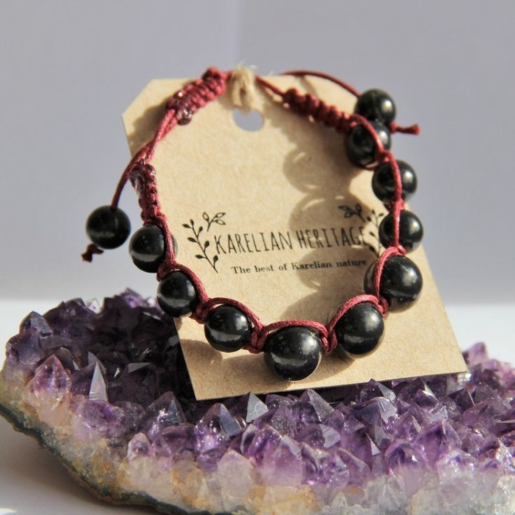 Shungite shambhala macrame bracelet (different color cords) $15.49