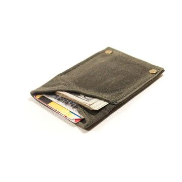 Thin Rivet Wallet Olive by TM1985....perfect for fall: 32 00, Thin Riveter, Wax Canvas, Leather Wallets, Fab Com, Waxed Canvas, Riveter Wallets, 3200, Wallets Olives