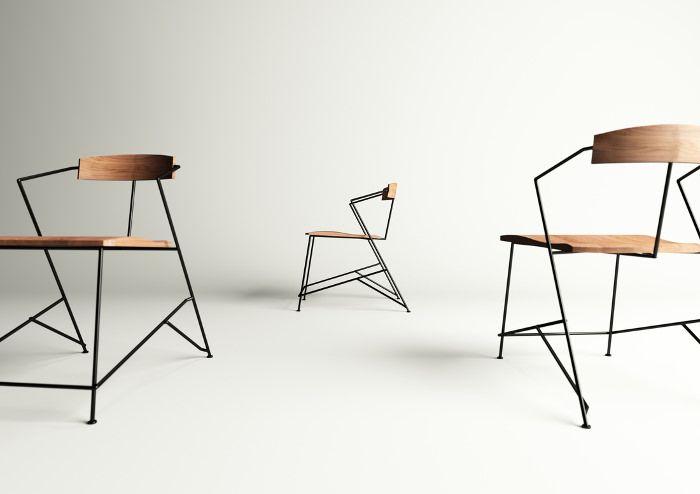 Power Chair métal et bois par Mario Tsai