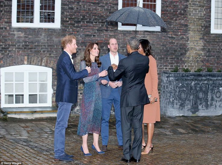 Prince Harry, Kate, Duchess of Cambridge, Prince William, Duke of Cambridge, U.S. Presiden...