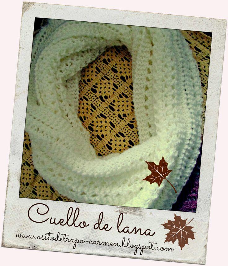 tutorial cuello de lana www.ositodetrapo-carmen.blogspot.com