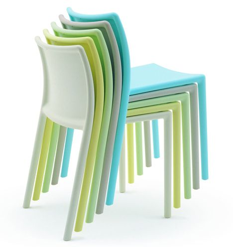Air-Chair by Jasper Morrison, 1999. Made in a one piece of  gas injection-moulded polypropylene; pioneering at the time.