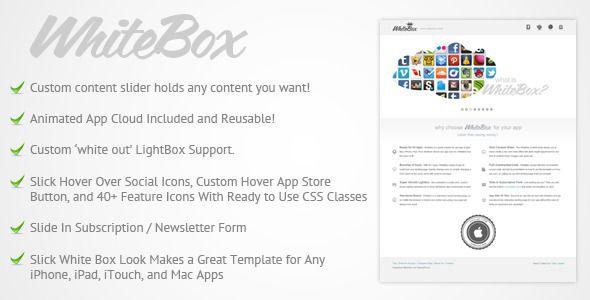 WhiteBox App Landing Page Template