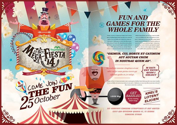 Carnival campaign by gareth grey, via Behance
