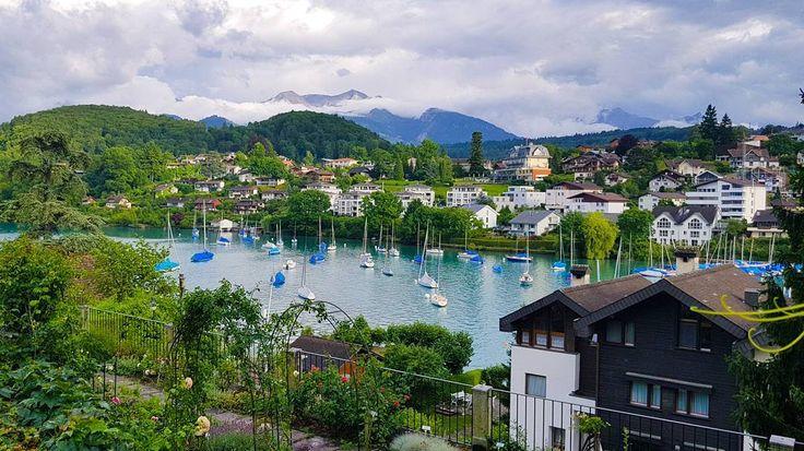 Вечер 😍#лето #июль #отпуск #путешествие  #река #европа #river #фото #july #швейцария #shweiz #vacation #trip #sandavacation #spiez #eu #europe #шпиц #alps #озеро #lake #tuhnlake #тунскоеозеро