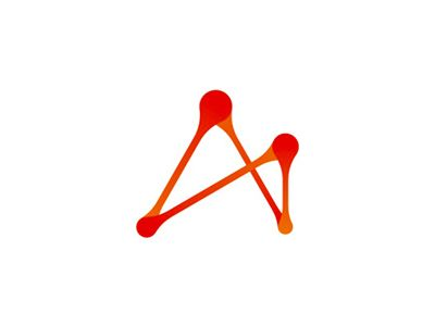 A letter mark based on the letter A and interactive connections, paths, lines…