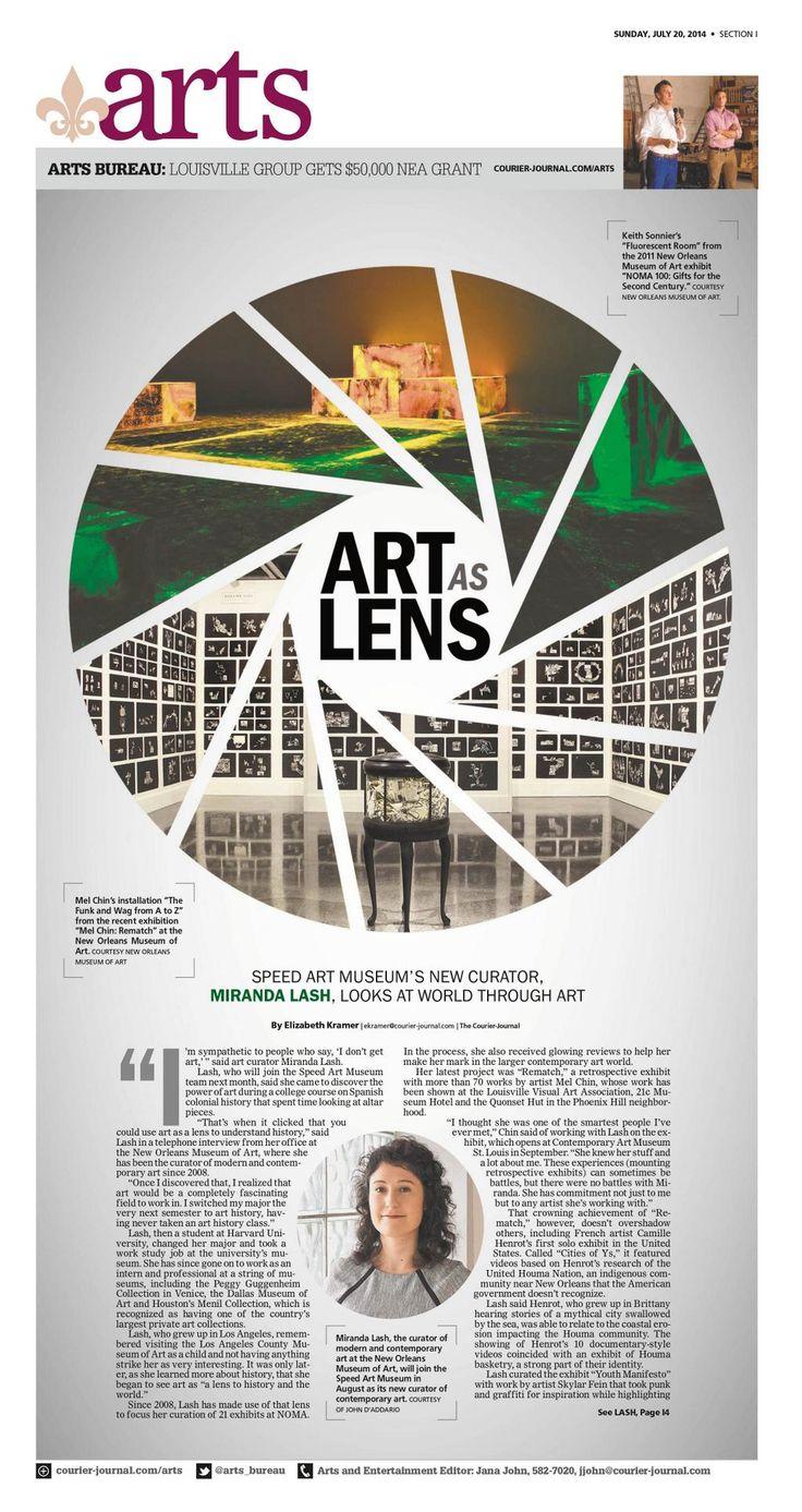 """Art as Lens"" @courierjournal Arts designed by Andrea Brunty. (07.20.14)   Louisville Design"